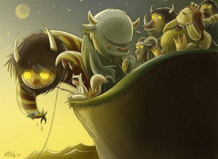 Морис Сендак. Там, где живут чудовища. (Maurice Sendak. Where the Wild Things Are).