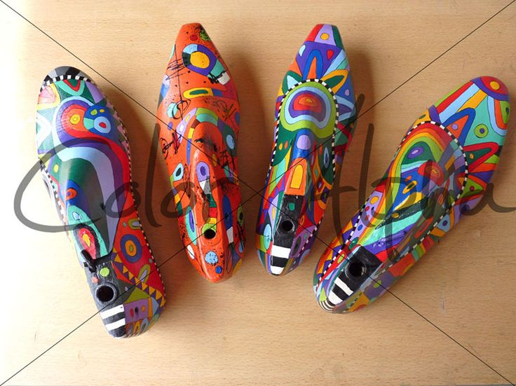 hormas de zapato pintados - de búsqueda