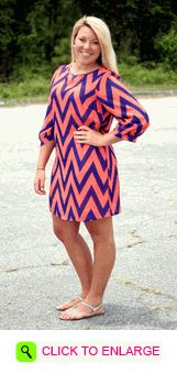 NAVY/ORANGE CHEVRON GAMEDAY DRESS #navy #orange #gators #Florida #cute #dress #gameday #love #pattern #football #touchdown #downtown #outfit #ootd #classy #trending