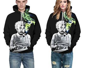Einstein SMOKING GALAXY Hoodie Pullover