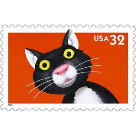 Bright Eyes Cat Canvas Art - US Postal Service (12 x 18)
