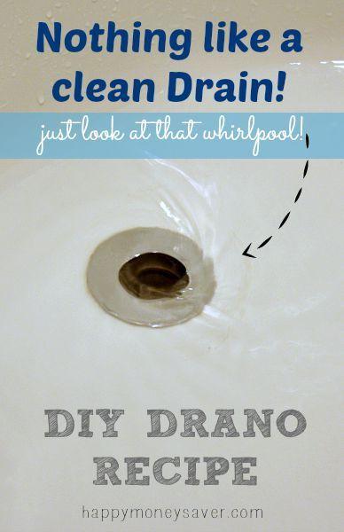 The Best DIY Homemade Drano Recipe- it really works!! happymoneysaver.com