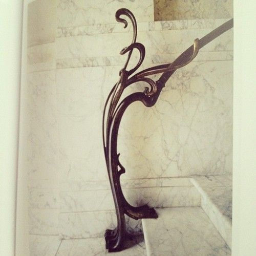 Victor Horta, Frison House, the foot of the stairs in the hall on the ground floor.  1894. 37 Rue Lebeau Brussels