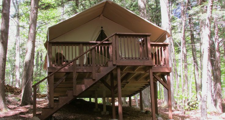 Camp orenda glamping places to visit pinterest for Permanent tent cabins