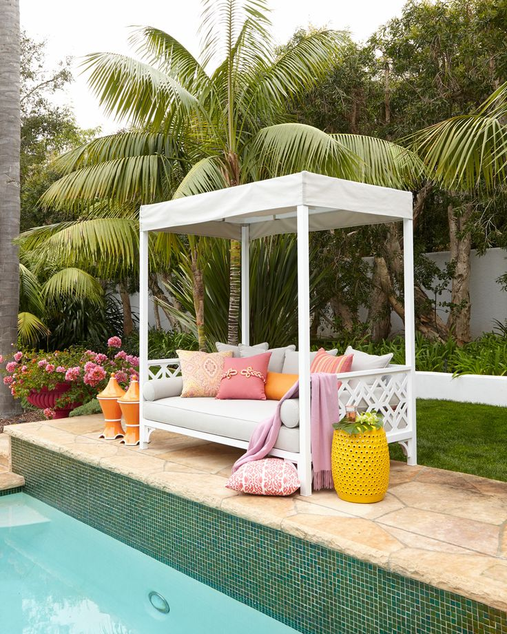 89 best pool furniture ideas images on pinterest for Outdoor pool daybeds