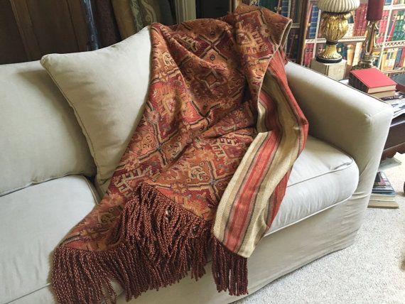 Tribal Tapestry African Throw Blanket Ancient Mayan by AlexsAttic