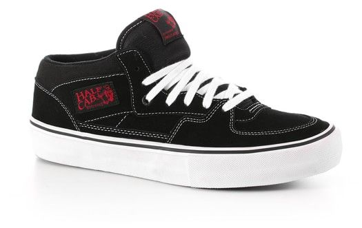 Vans Half Cab Pro Skate Shoes - black/white/red - Free Shipping