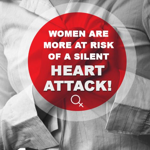 Did you know; women are more at risk of a silent #HeartAttack than men? This is typically because women tend to experience less obvious symptoms of a heart attack. Often #HeartDisease in women may not be diagnosed until women experience the typical symptoms of a #HeartFailure, attack, arrhythmia or stroke.  #HeartHealth #HeartDisease