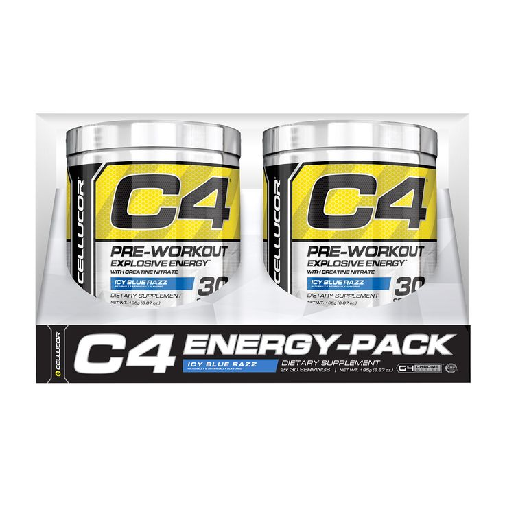 Cellucor C4 PreWorkout Icy Blue Razz 2pack 30 Servings