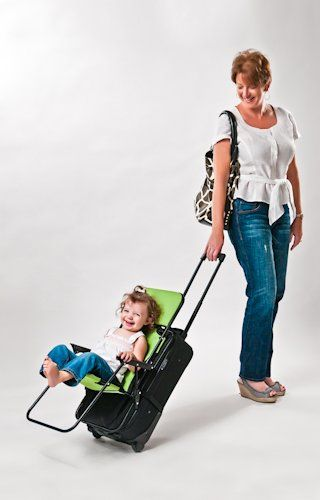 RIDE-ON CARRY-ON - BLACK (FAMILY TRAVEL JUST GOT EASIER AND KIDS LOVE IT!) : Child Safety Car Seat Accessories : Baby