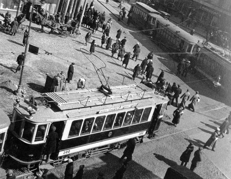 """F"" tramcar №300 on Butcher Gate Square, tram route ""A"" (""Annushka or Ann"") 
