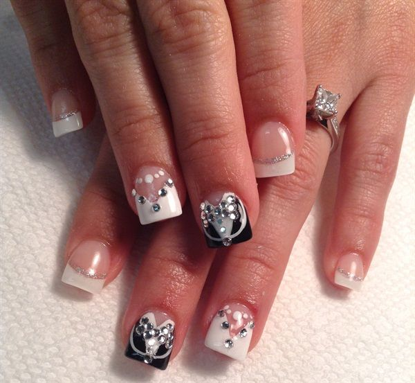 day 181 bride groom nail art
