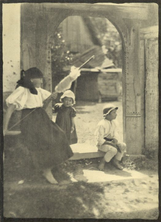The Distaff is ever in Woman's Hands    Photographs from  IN GIPSY CAMP AND ROYAL PALACE  Wanderings in Rumania  by E. O. Hoppé  Charles Scribner's Sons, New York, 1924