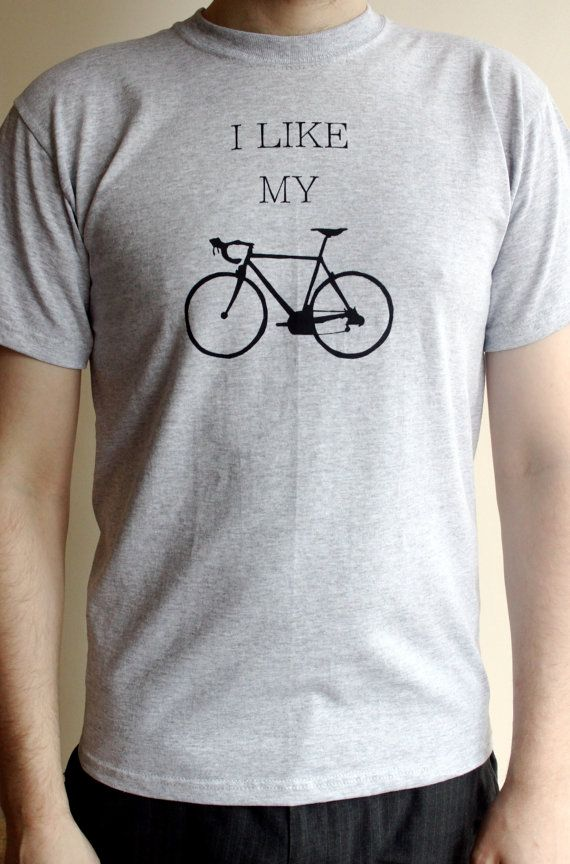 Bike Shirt  Men's T shirt  Bicycle T Shirt in Grey by proudcloud, £14.00