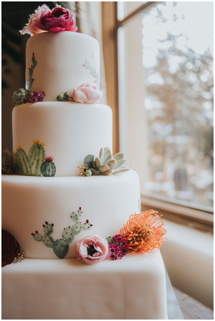 Südwestliche Hochzeitstorte | Hochzeitstorte | Einzigartige Hochzeitstorte | Kaktus und Succ …   – weddings