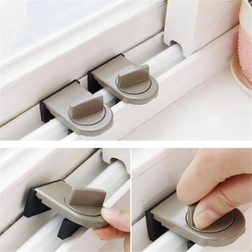 Practical Sliding Door Window Locks Baby Child Safety Lock Sliding Sash Stopper