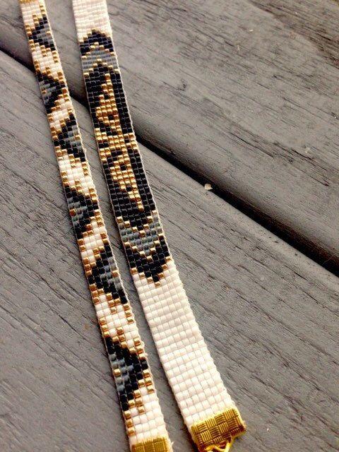 Handgeweven armband / bead loom armband door OceanGlowJewelry