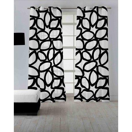 Las 25 mejores ideas sobre cortinas en blanco y negro en - Cortinas en blanco y negro ...