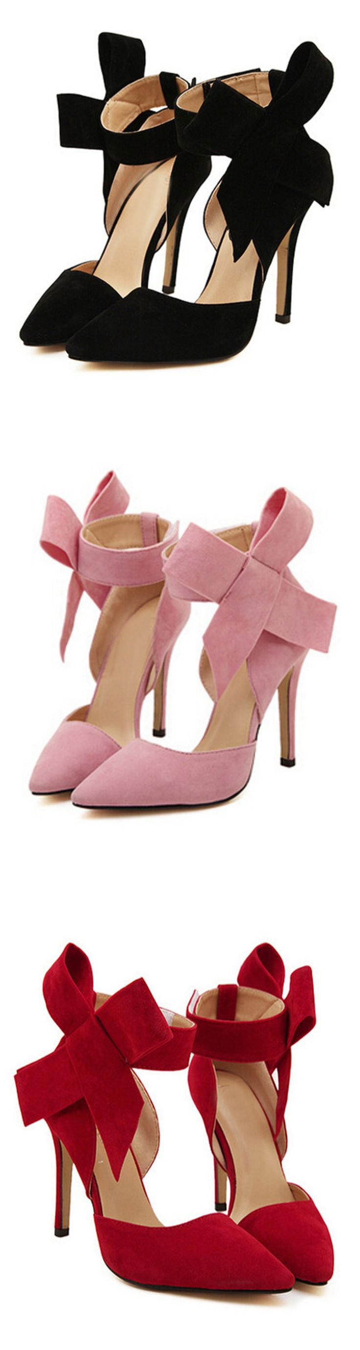 Bow Slingbacks High Heeled Pumps, three colors~