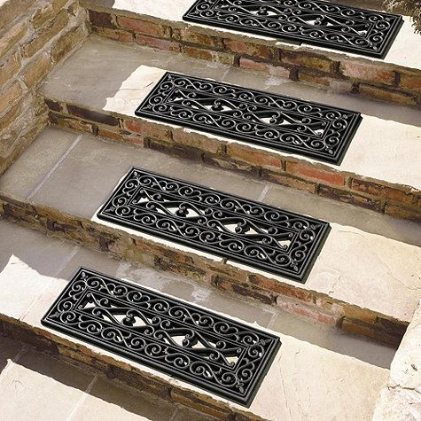 Set of 4 Highgate Doormat -Stair Treads - for slippery winter stairs