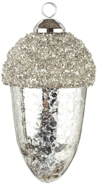 Mercury Glass Acorn Ornament