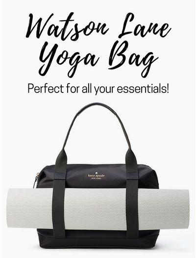 Kate Spade Watson Lane Yoga Bag #affiliate, #yoga, #katespade, #yogabag, #handbag, #yogamat, #dufflebag