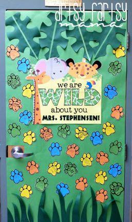 """""""Wild About You"""" Teacher Appreciation Door"""