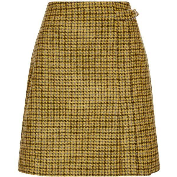 Hobbs Dalby Wool Kilt Skirt ($105) ❤ liked on Polyvore featuring skirts, print maxi skirt, pleated mini skirt, brown pleated skirt, pleated skirt and a line mini skirt