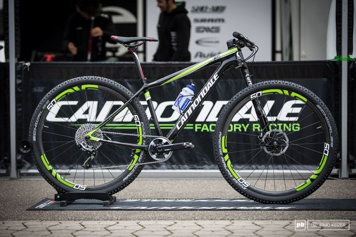 Manuel Fumic s new Cannondale F-Si from Round 4 of the 2014 UCI World Cup XC. Up front is a Lefty 2.0, a SRAM XX1 setup on a SI crank and Enve M50 wheels combined with the ever popular Schwalbe Racing Ralph tyres . .