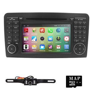 HIZPO Android 5.1 OS Quad Core 1024*600 HD Touchscreen Car In Dash Stereo Radio DVD Player with GPS Navigation fit for Mercedes Benz M ML…