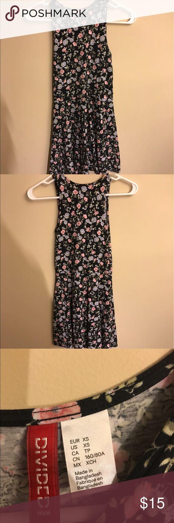 black floral skater dress black skater dress with pink flowers from h&m Divided Dresses Mini