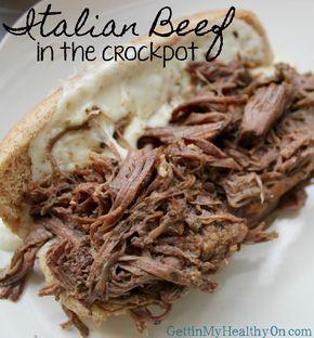 Shredded Italian Beef in the Crockpot