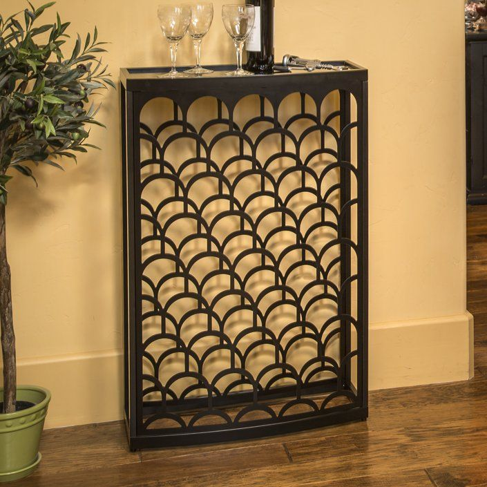 Art Deco Mango Steam 36 Bottle Floor Wine Rack Reviews