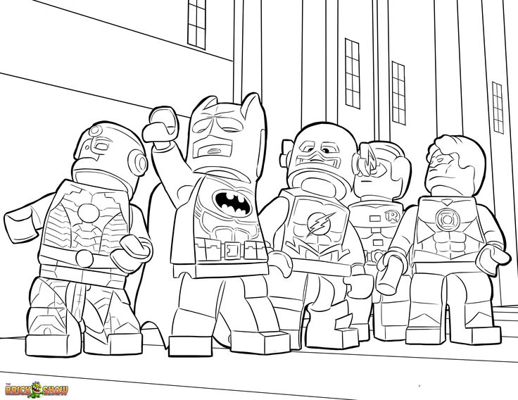 super heroes lego coloring pages - photo#4