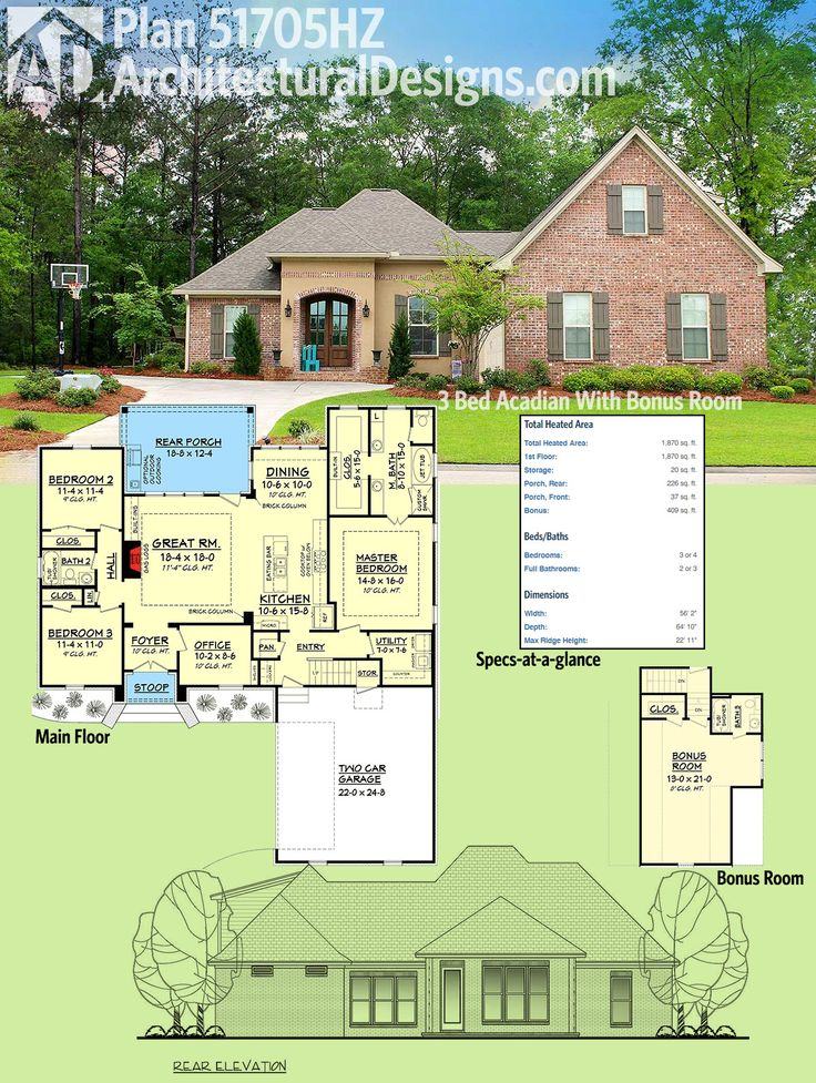 124 Best Acadian Style House Plans Images On Pinterest