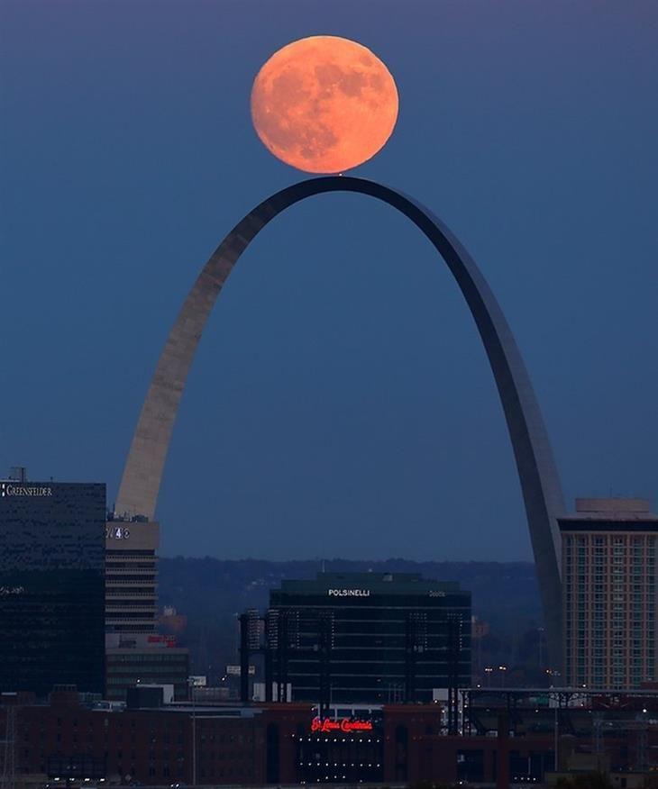 St. Louis, Estados Unidos. fotos superluna