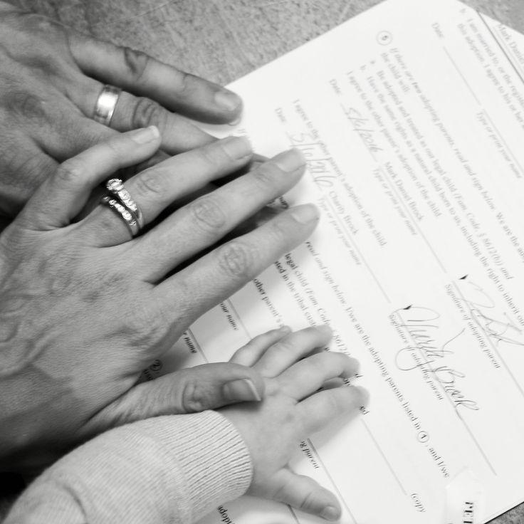 Adoption day (Gotcha Day) photo. Finalization hearing.