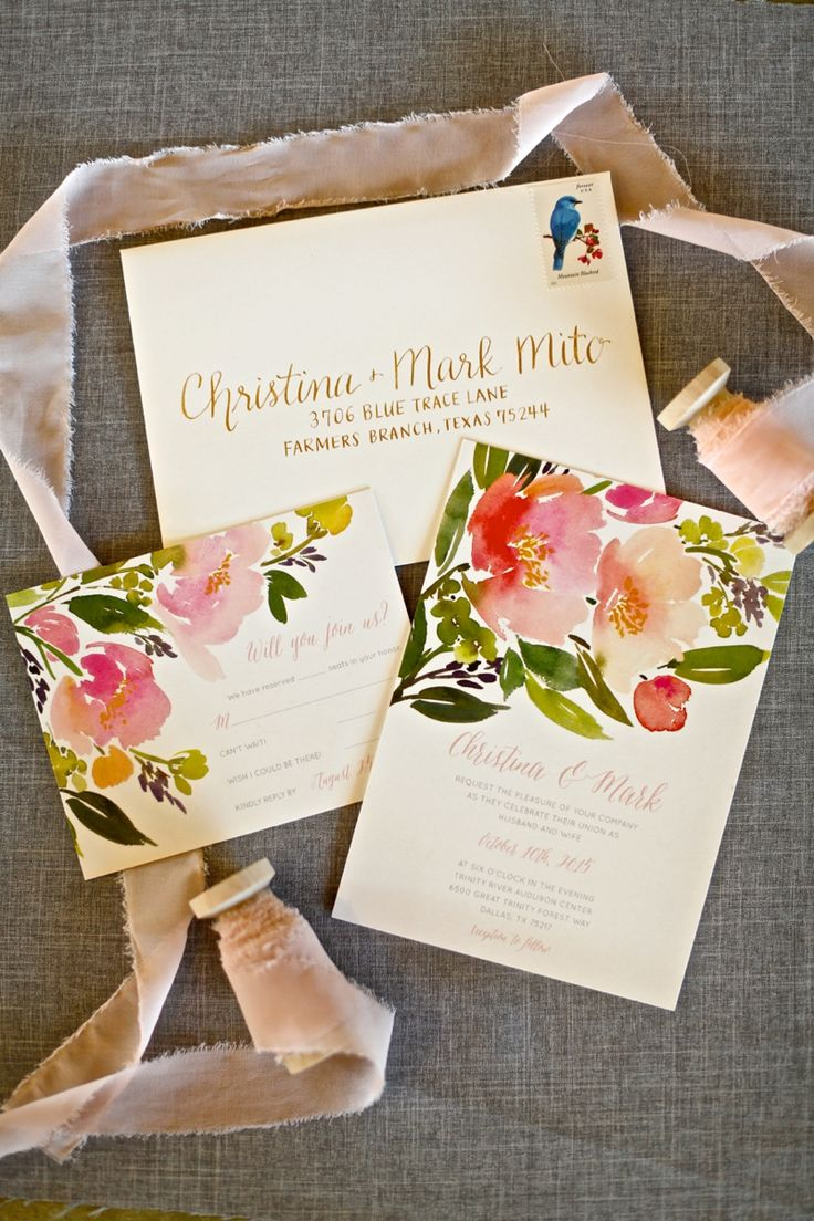 Set the tone for your spring wedding with a spring themed wedding invitation suite from Minted.