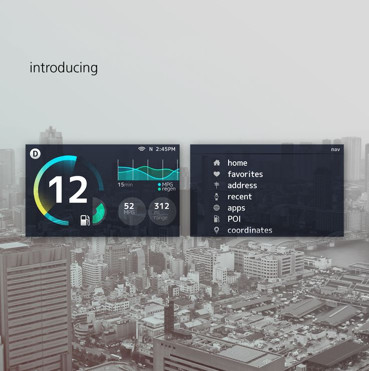 An exercise by Andrew Kim in industrial and interface design for Toyota's next generation Prius navigation system.