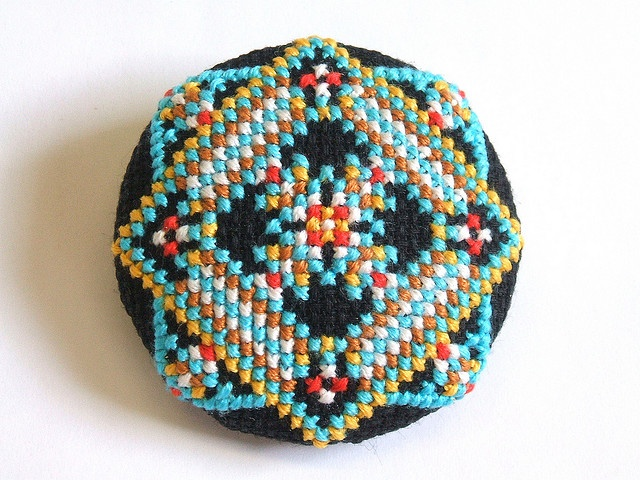 Cross Stitch buttons, have to make some of these...