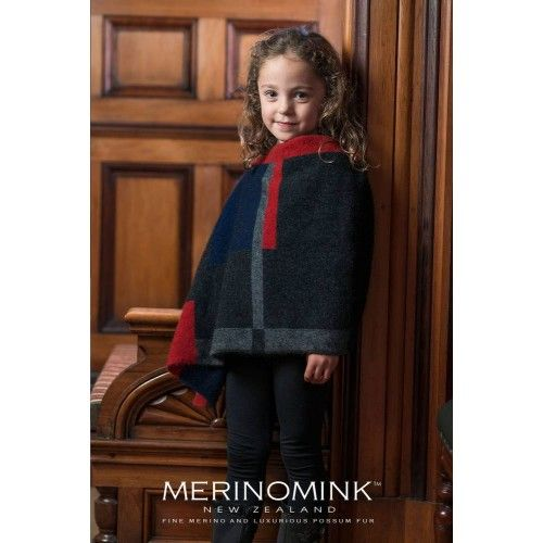 Merinomink Petite Empress Poncho For Kids