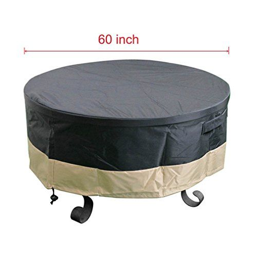 Stanbroil Full Coverage Round Fire Pit Cover Black 60 Inch