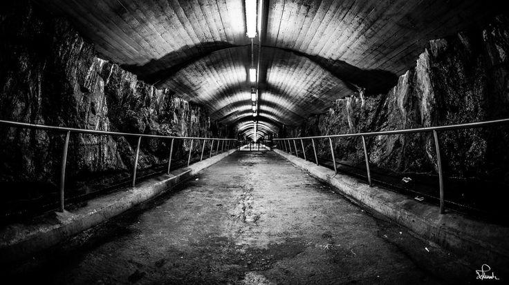 Endless Underground Tunnel by Kasper M. de Thurah on 500px #tunnel #bw #norway #oslo