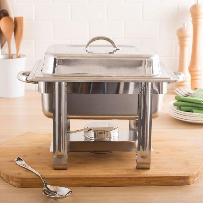 A great steel chafing dish.