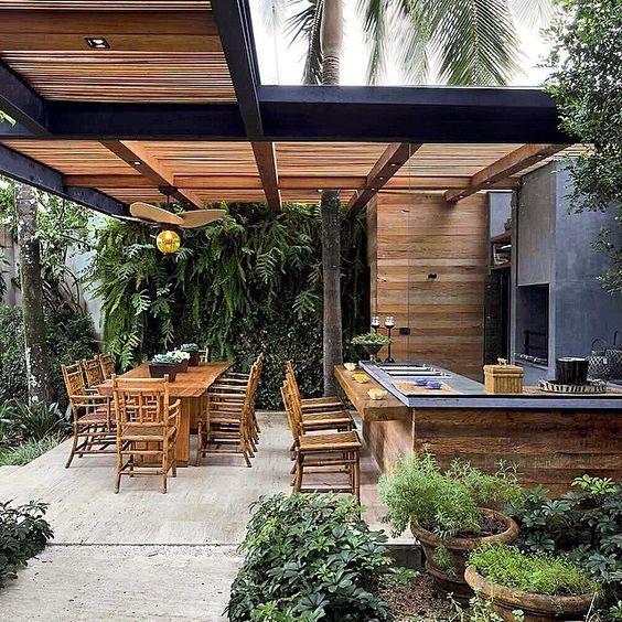 15 Funktionelle und langlebige Outdoor-Küchenideen für Ihren Garten