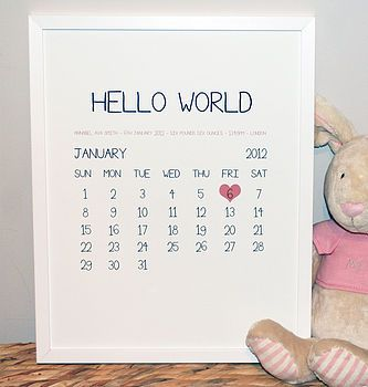 21 best cubbies images on pinterest cubbies flower girls and personalised baby birth date print negle Gallery