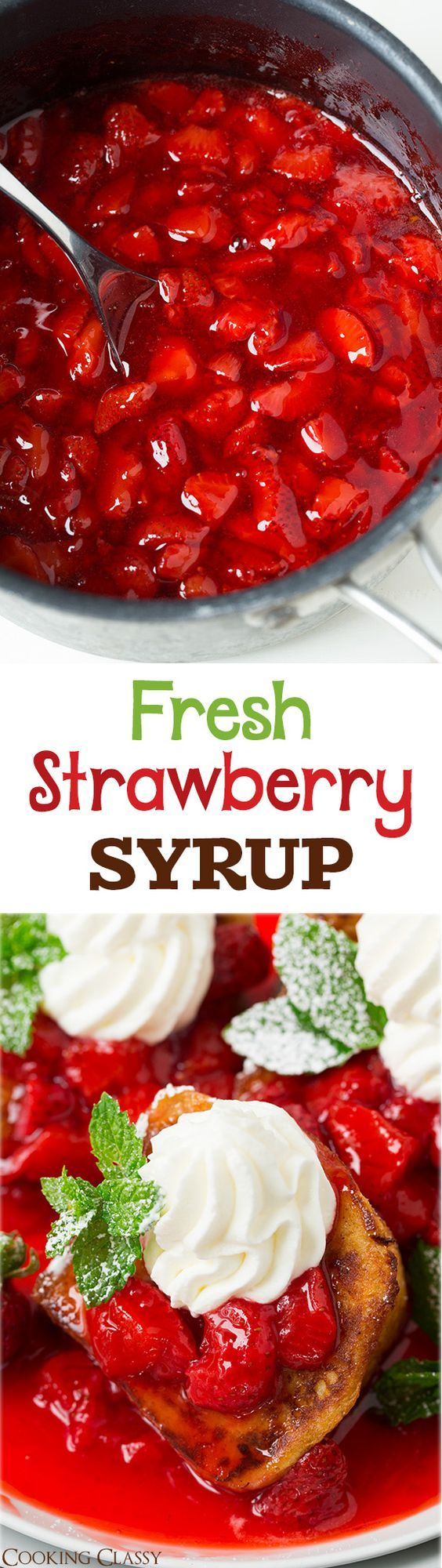 Fresh Strawberry Syrup - this syrup is AMAZING! I love that it's not too sweet. It's perfect for pancakes waffles french toast ice cream or oatmeal!