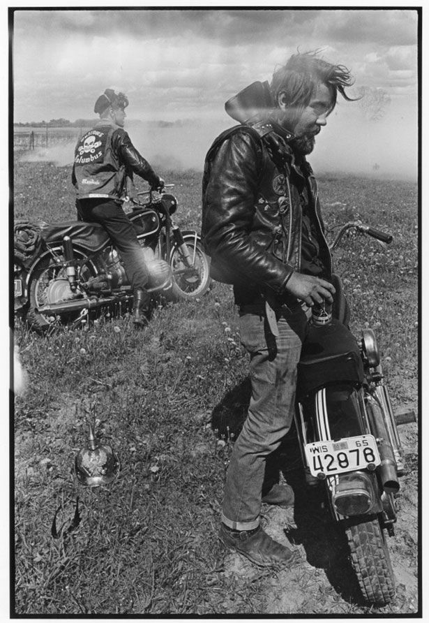 Chicago Outlaws Motorcycle Club, Danny Lyon, 1963-67.