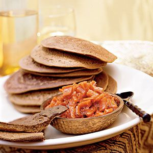 Teff Injera Bread with Carrot-Ginger Chutney http://www.cookinglight.com/eating-smart/nutrition-101/olympic-athlete-diet-00412000076745/page10.html
