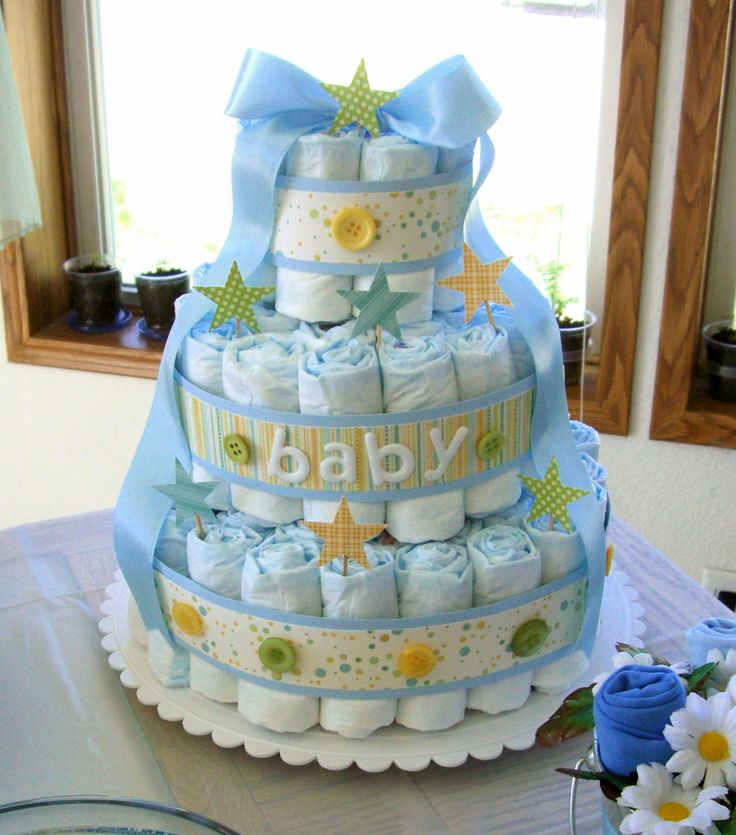 Baby Diaper CakeClothing Diapers, Shower Ideas, Baby Shower Decorations, Boys Diapers, Baby Diapers Cake, Cute Ideas, Diapers Cakeswreath, Cake Diapers, Baby Shower Cake